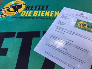 Zulassung des Volksbegehrens (Foto: proBiene)