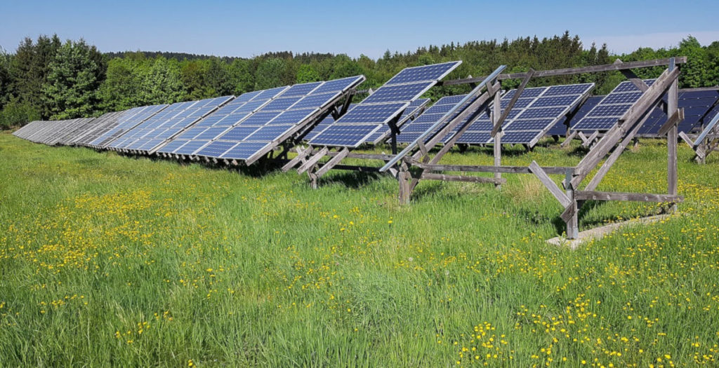 Freiflächen Photovoltaikanlage (Symbolbild)