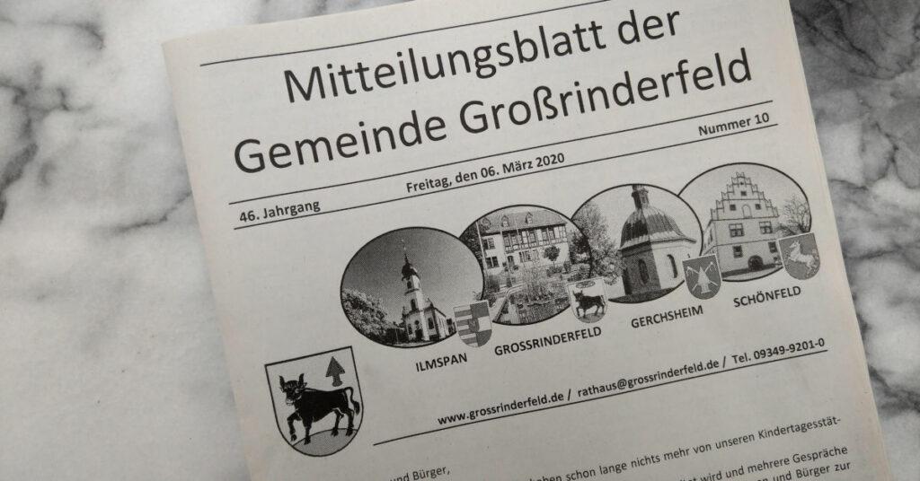 Gemeindeblatt Großrinderfeld (Symbolbild)