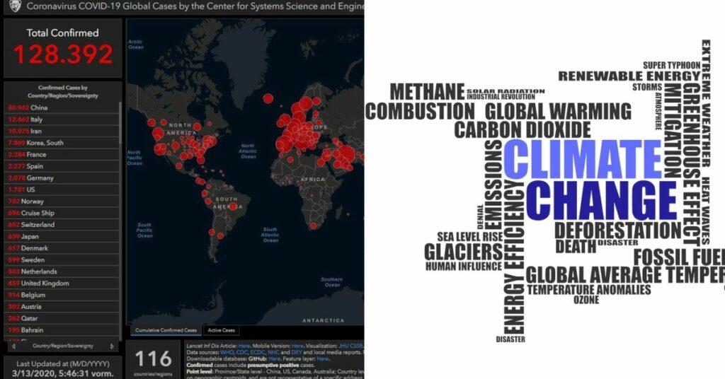 Coronavirus und Klimawandel (Symbolbild)