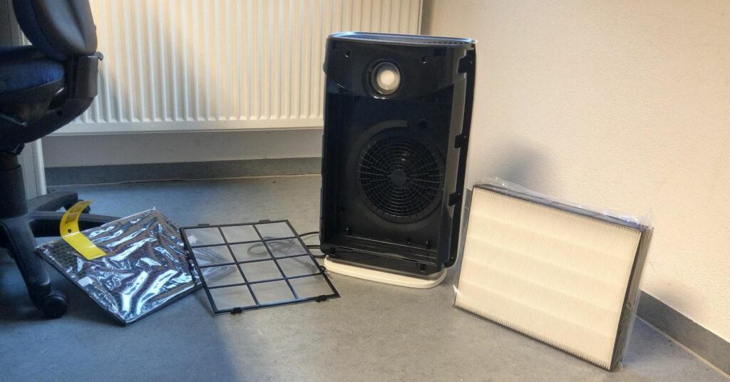 Foto eines Luftreinigers mit HEPA Filter
