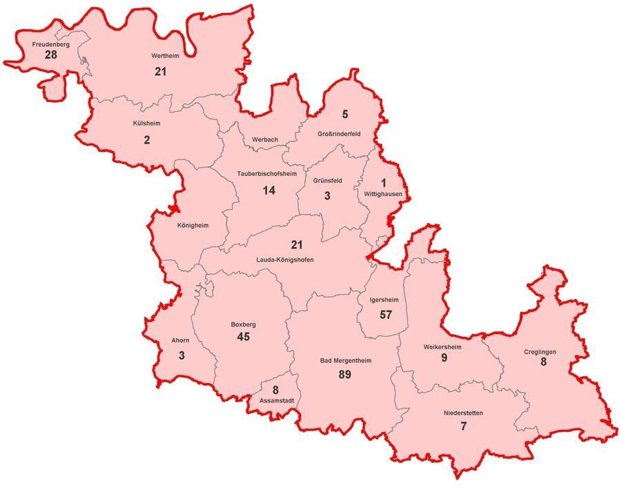 Corona Bawü Karte